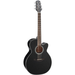 Takamine GN30CE-BLK Solid Top NEX Cutaway Body Acoustic Electric Guitar, Black