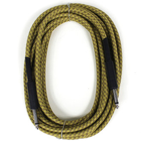 "Perfektion Heavy Duty 20ft Straight 1/4"" Tweed Instrument Cable"