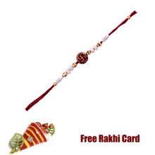 Swastik Rakhi with Roli Tikka and Card