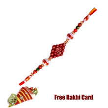 Om Rakhi with with Roli Tikka and Card