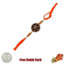 Traditional Swastik Rakhi with Free Silver Coin