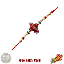 Ganesh Rakhi with Free Silver Coin