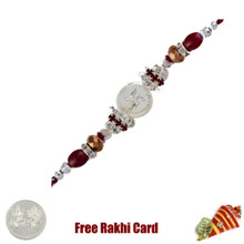 Striking Swastik Rakhi with Free Silver Coin