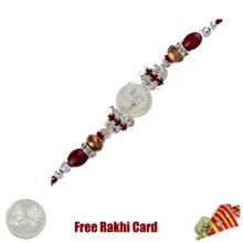 Striking Swastik Rakhi with Free Silver Coin