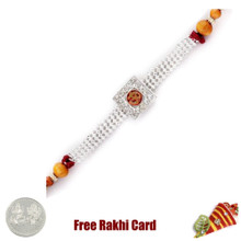 Om Jewelled Rakhi with Free Silver Coin