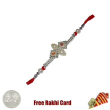 Double Om Pearl Rakhi Rakhi with Free Silver Coin