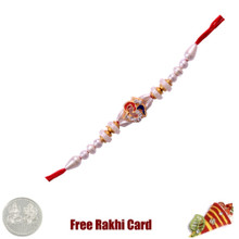Religious Jewelled Om Rakhi with Free Silver Coin