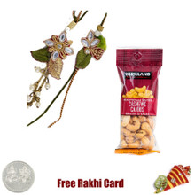 Bhaiya Bhabhi Rakhi with 50 grams Cashews