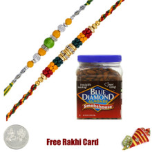 2 Rakhis Blue Diamond Smokehouse Almonds