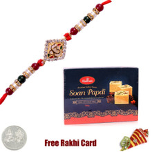 1 Rakhi with Haldiram Soan Papadi 500 grams
