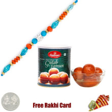 1 Rakhi with Haldiram Gulab Jamun