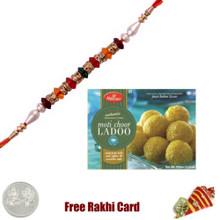 1 Rakhi with Haldiram Motichoor Ladoo 400 grams