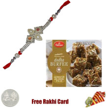 1 Rakhi with Haldiram Dodha Burfee 400 grams