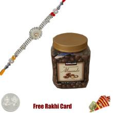 Rakhi with Kirkland Signature Milk Chocolate Almond 48 Oz
