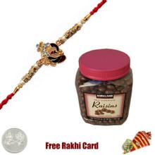 Rakhi with Kirkland Signature Milk Chocolate Raisins 54 Oz.