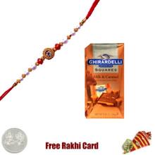 Ghirardelli Chocolate Squares - Milk & Caramel Rakhi Delight