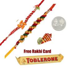 Toblerone with 2 Exclusive Rakhi