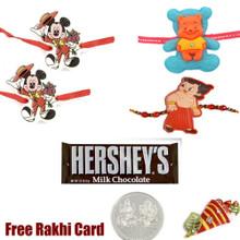 4 Kids Rakhi with Hershey Bar