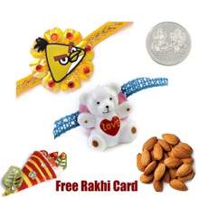 Set of 2 Kids Rakhis with 50 grams Almonds