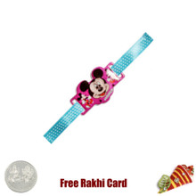 Mickey Face Rakhi with a Free Silver Coin