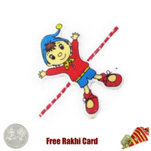Boy Kids Rakhi with a Free Silver Coin