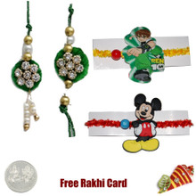 Diamond Zardosi Family Set with a Free Silver Coin