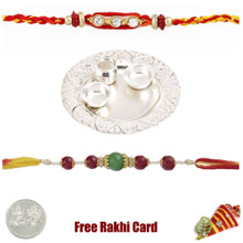 Silver Thali with Free Silver Coin