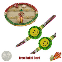 Thali with 2 Kids Rakhi