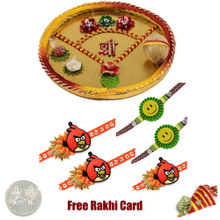 Thali with 5 Kids Rakhi