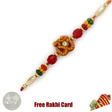 Colorful Om Rakhi with Free Silver Coin - Canada