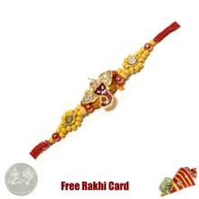 Jai Ganesha Rakhi with Free Silver Coin - Canada