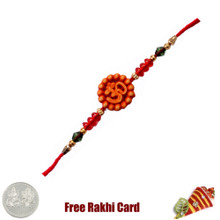 Om Rakhi with Free Silver Coin - Canada