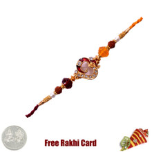 Om Moti Rakhi with Free Silver Coin - Canada