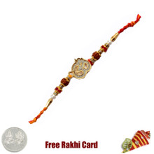 Single Om Rakhi with Free Silver Coin - Canada