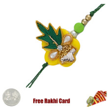 Traditional Zardosi Rakhi with Free Silver Coin - Canada