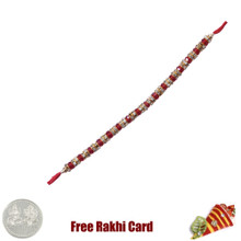 Blue Purple Stone Rakhi with Free Silver Coin - Canada