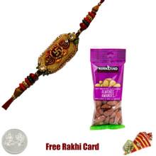 Ethnic Rakhi with 50 grams Almonds - Canada