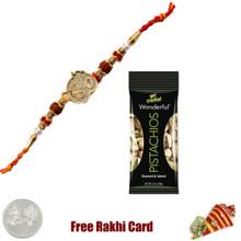Ethnic Rakhi with 50 grams Pistachios - Canada