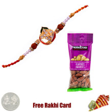 Jewelled Rakhi with 50 grams Almonds - Canada
