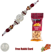Jewelled Rakhi with 50 grams Cashews - Canada