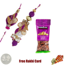 Bhaiya Bhabhi Rakhi with 50 grams Almonds - Canada