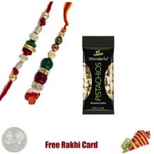 Bhaiya Bhabhi Rakhi with 50 grams Pistachios - Canada