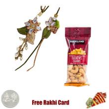 Bhaiya Bhabhi Rakhi with 50 grams Cashews - Canada