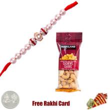 Pearl Rakhi with 50 grams Cashews - Canada