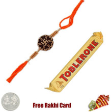 Ethnic Rakhi with Toblerone Bar - Canada
