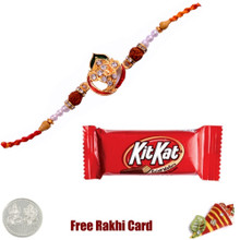 Ethnic Rakhi with KitKat Bar - Canada
