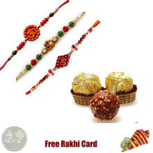 3 Rakhis with 3 Piece Ferrero Rocher - Canada