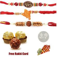 Triple Rakhi Set with Ferrero Rocher - Canada