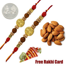 Set of 2 Om Rakhis with 50 grams Almonds - Canada