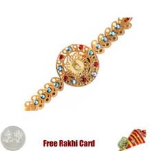 Diviniti 24 Ct. Gold Bal Krishna Rakhi - Canada Delivery